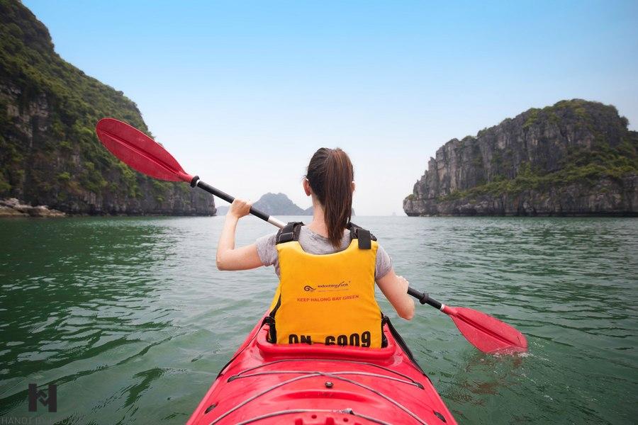 Kayaking on Halong Bay