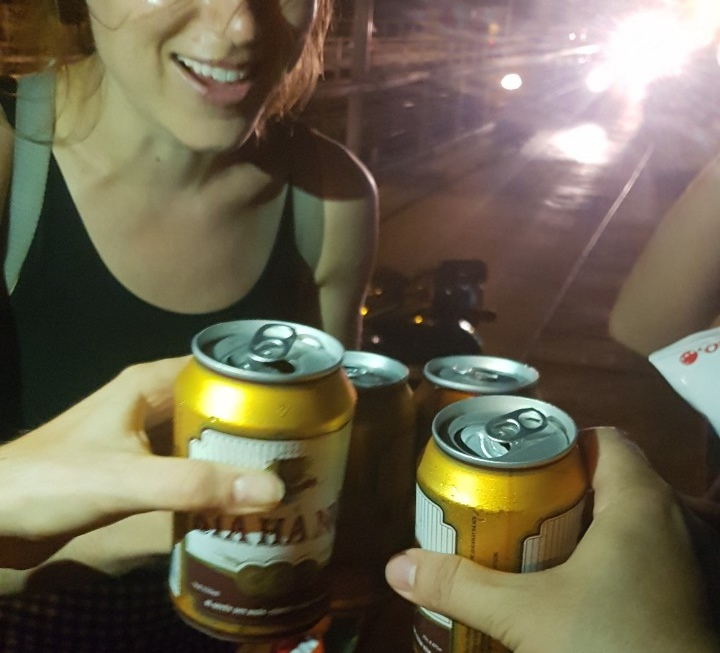 Enjoy Hanoi beer